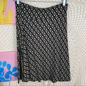 Lularoe stretch knee length multicolor skirt XL